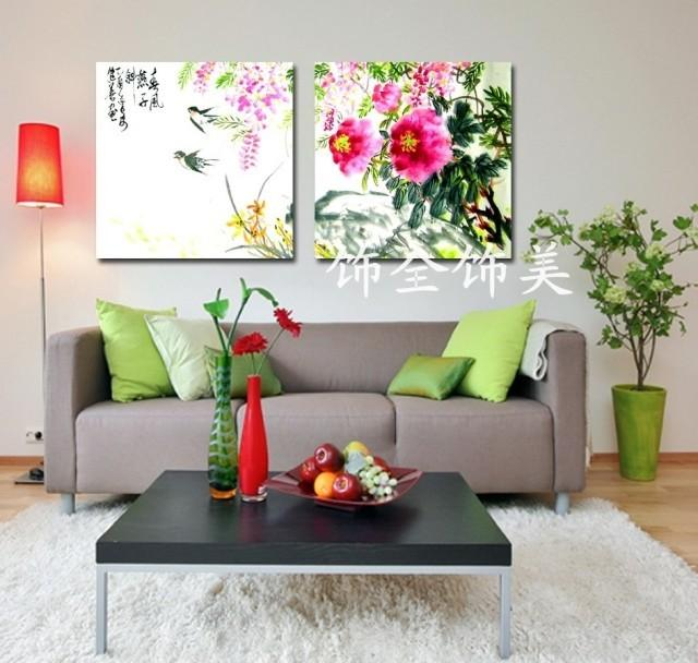 Wholesale Calm Wind Swallows Chinese Modern Painting Murals