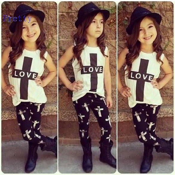 b296501cfdbd 2018 2015 Summer Kids Girls Clothing Sets Cute Fashion Children S Tops Pant  Set Baby Girl Clothes 1 7 Years 24 From Wuzike17