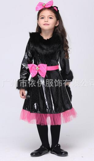newest children halloween cute one piece dress cosplay cat girl sexy slender roleplay performance sexy costumes apparel polyeter uniform halloween costumes