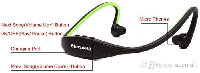 S9 Stereo Spor Kulaklık Bluetooth Hoparlör Kulaklık Kablosuz Boyun Bandı Kulaklıklar Kulak Kulaklık Hifi Müzik Çalar iPhone 6 Için Artı Not 4