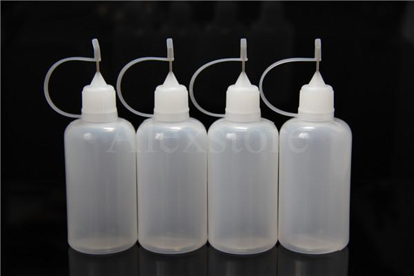 Needle bottle empty Mini hdpe plastic Long thin tip Soft pe e-liquid oil dropper bottle 1 oz 10ml 20ml 30ml 50ml for ecig