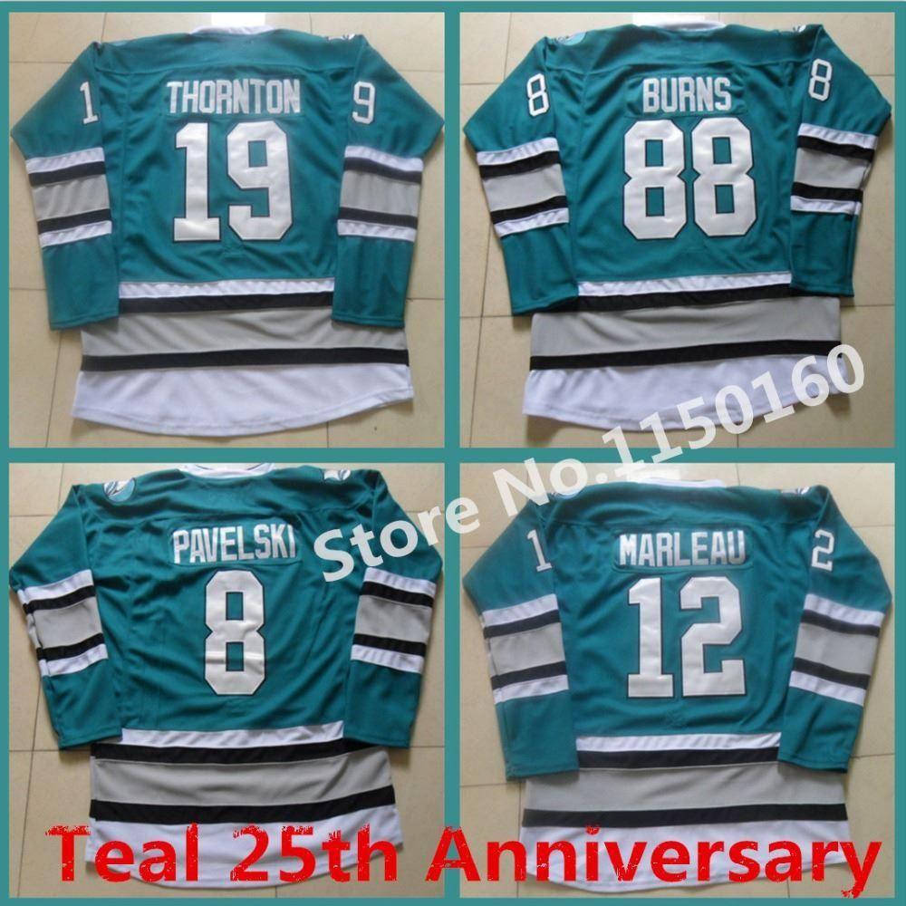 6c1d17289 16ffe c4906  uk 2016 new new 88 brent burns jersey san jose sharks joe  thornton jersey 25th anniversary