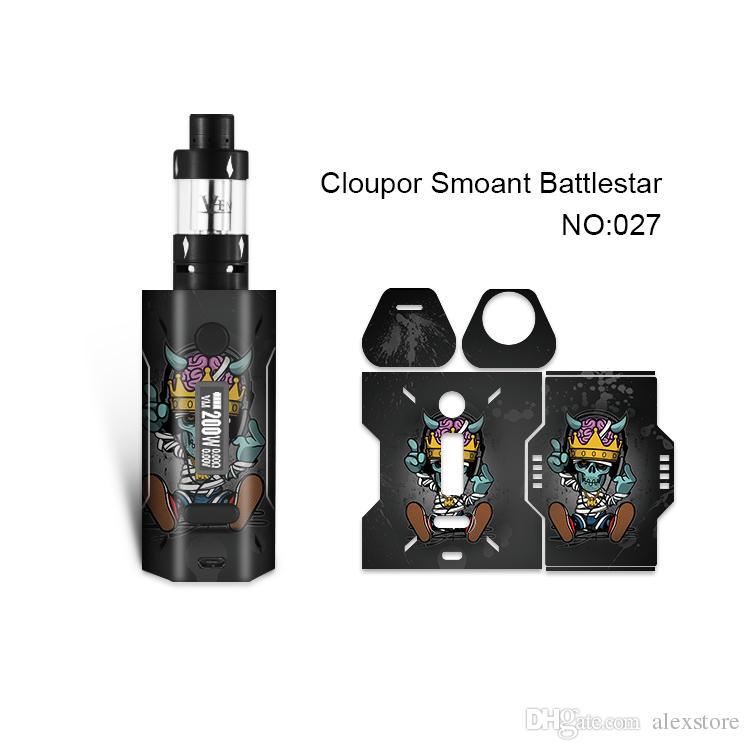 Smoant Battlestar Skin Printing Wraps Sticker Cases Cover for Cloupor Smoant Battlestar 200W TC Box Mod Protective Film Stickers 30 Pattern