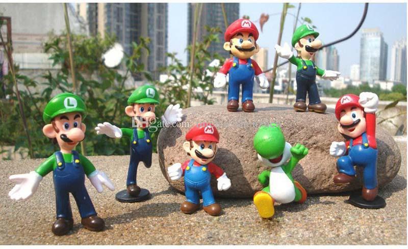Plastic Super Mario Bros PVC Action figures Mario Luigi Yoshi Princess Toys Dolls B001