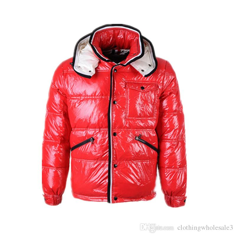 0adc7a3df 2019 Mens 90% White Duck Down Coats With Hooded Red Black Winter ...