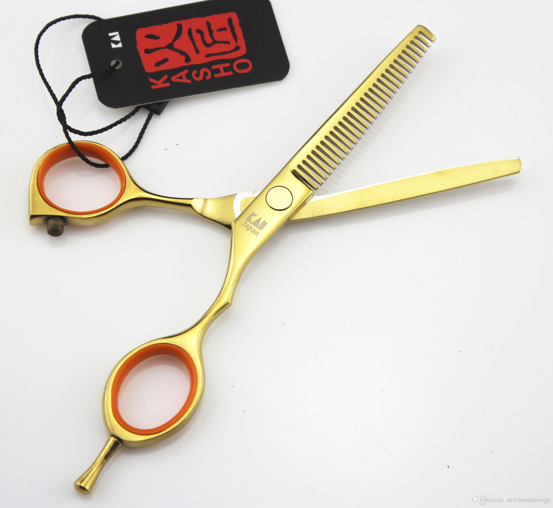 715# 5.5'' Top Quality Japan Kasho Hair Scissors Set,Professional Hair Cutting and Thinning Shears,Salon Home Hair Razor,for Custom Logo
