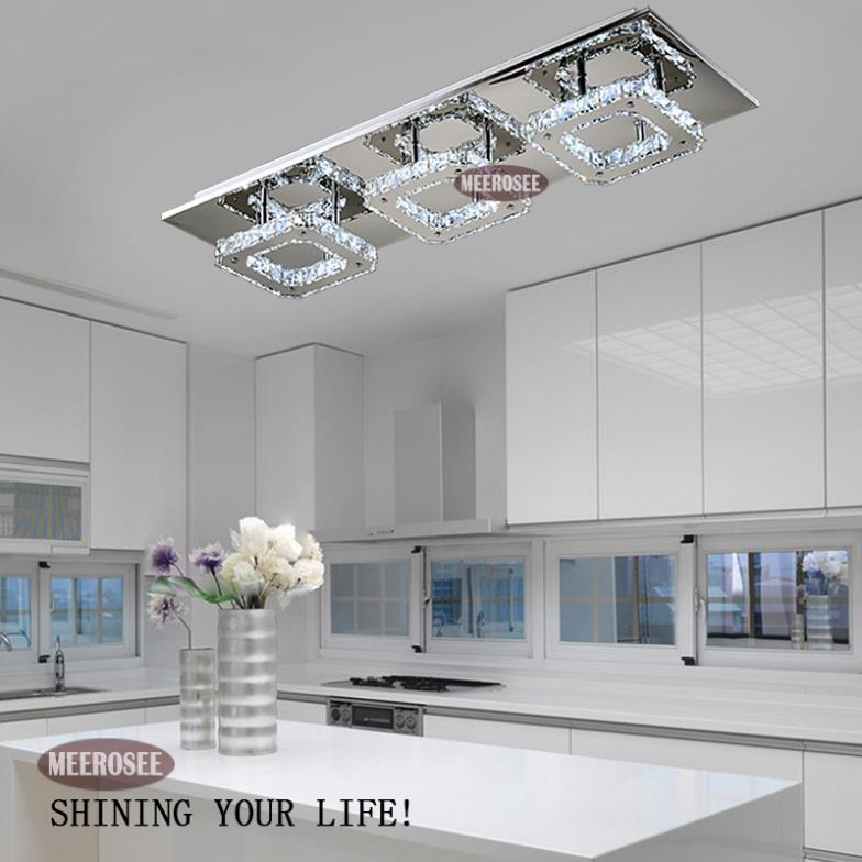 modern led diamond crystal ceiling light fitting lustres crystal lights lamp for hallway corridor living room kitchen fast shipping crystal lamp crystal - Led Kitchen Ceiling Lights