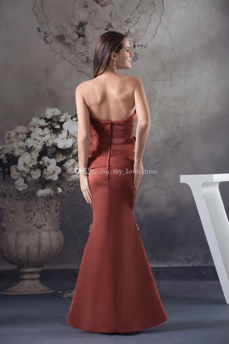 Nouvelle Arrivée Simple Elégante Sermaid Robe de soirée Sweetheart APPLIQUES ROBES DE FÊTE RUCHED Robe de bal sans train