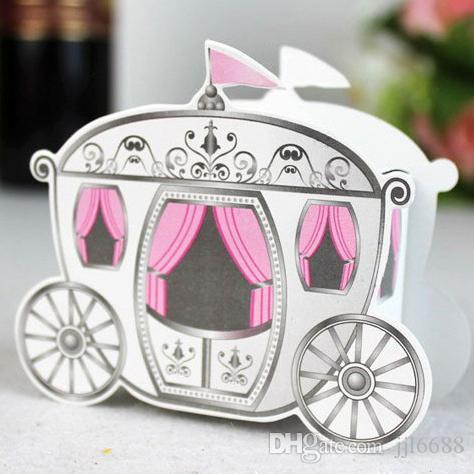 Cinderella Enchanted Carriage Wedding Favor Boxes Candy Box Casamento Favors And Gifts Black Clear From Jjl6688