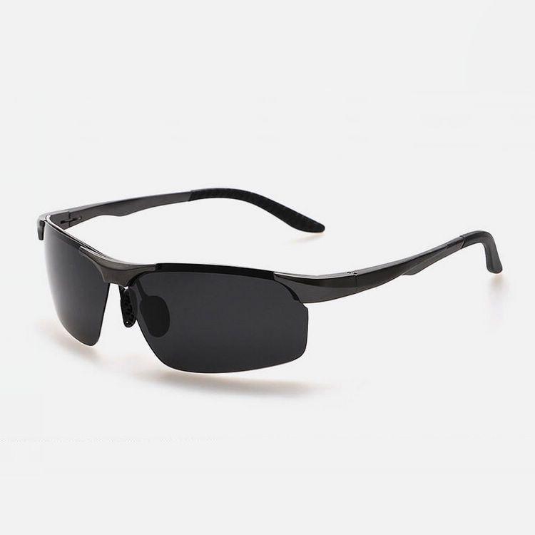 610c03f5c93 Polarized Rimless Sunglasses For Men Aluminum Frame Polarised Grey Polaroid  Lens Cheap UV400 Fishing Driving Sport Glasses Eyewear Spitfire Sunglasses  ...