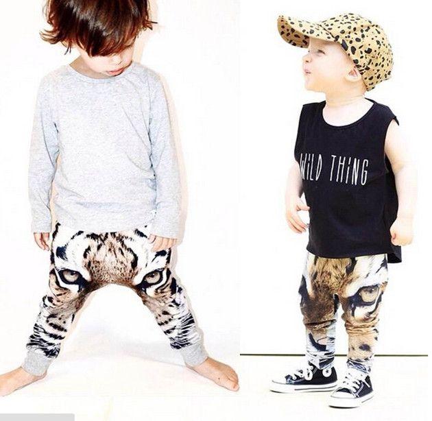 9bc1607371be ... New INS Baby Girls Boys Pants 3D Digital Tiger Printed Baby Infant  Harem Pants Boy Girl ...