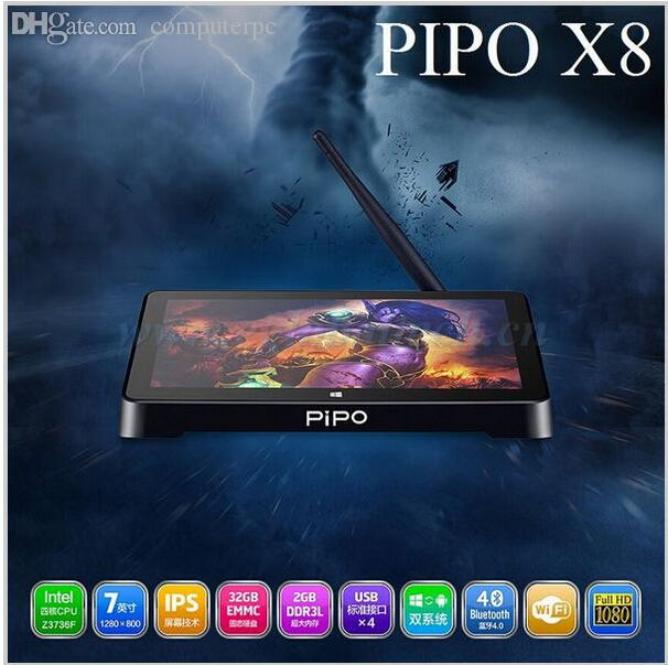 Wholesale-Pipo X8 With Dual OS Windows 8.1& Android 4.4 Smart Windows TV BOX Intel Z3735F 2.16GHz Quad Core Processor RAM 2G ROM 32G