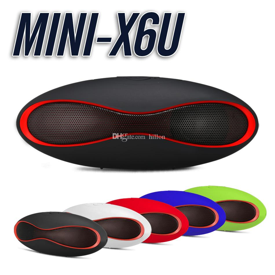 Mini X6U Bluetooth Speaker Supports TF Card Hands-free Wireless Stereo Speakers Charging with Micro USB Cable with Retail Package