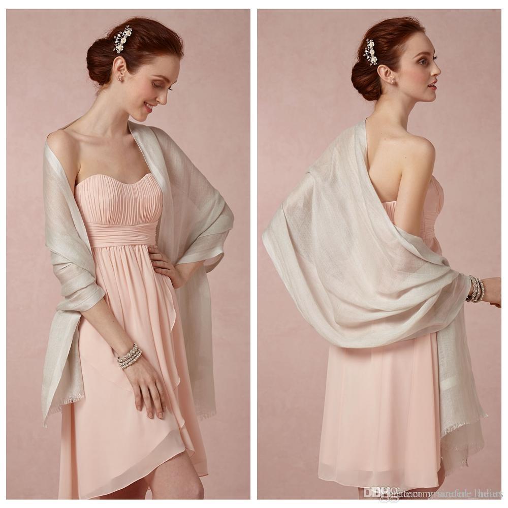 Compre Elegante Nupcial Wraps Bufanda De Lana Grandes 78,5 * 27,5 ...