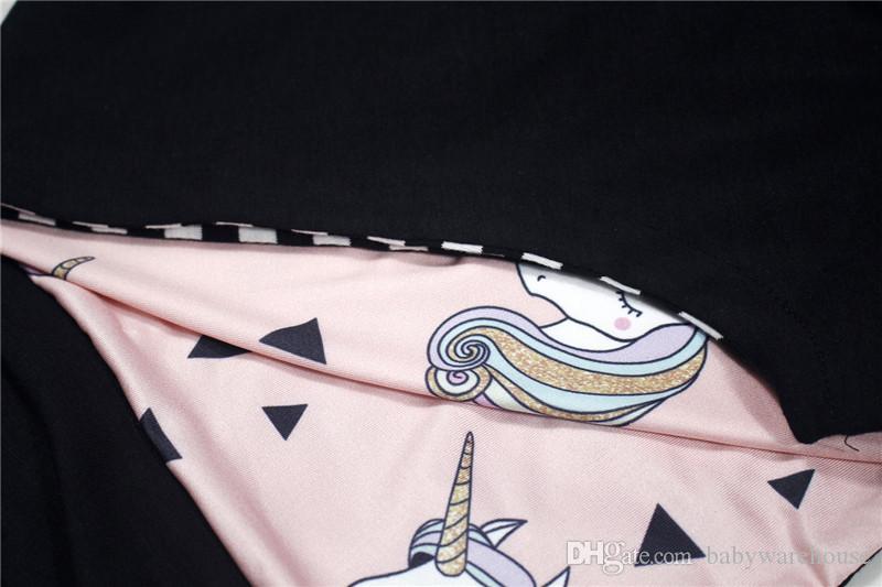 Kinderkleidung 2018 Frühlings-Herbst-Baby-Kleidung Unicorn Printing Langarm Hoodies Girls Sweatshirts Oberteile Outfits Baby-Kleidung Outwear