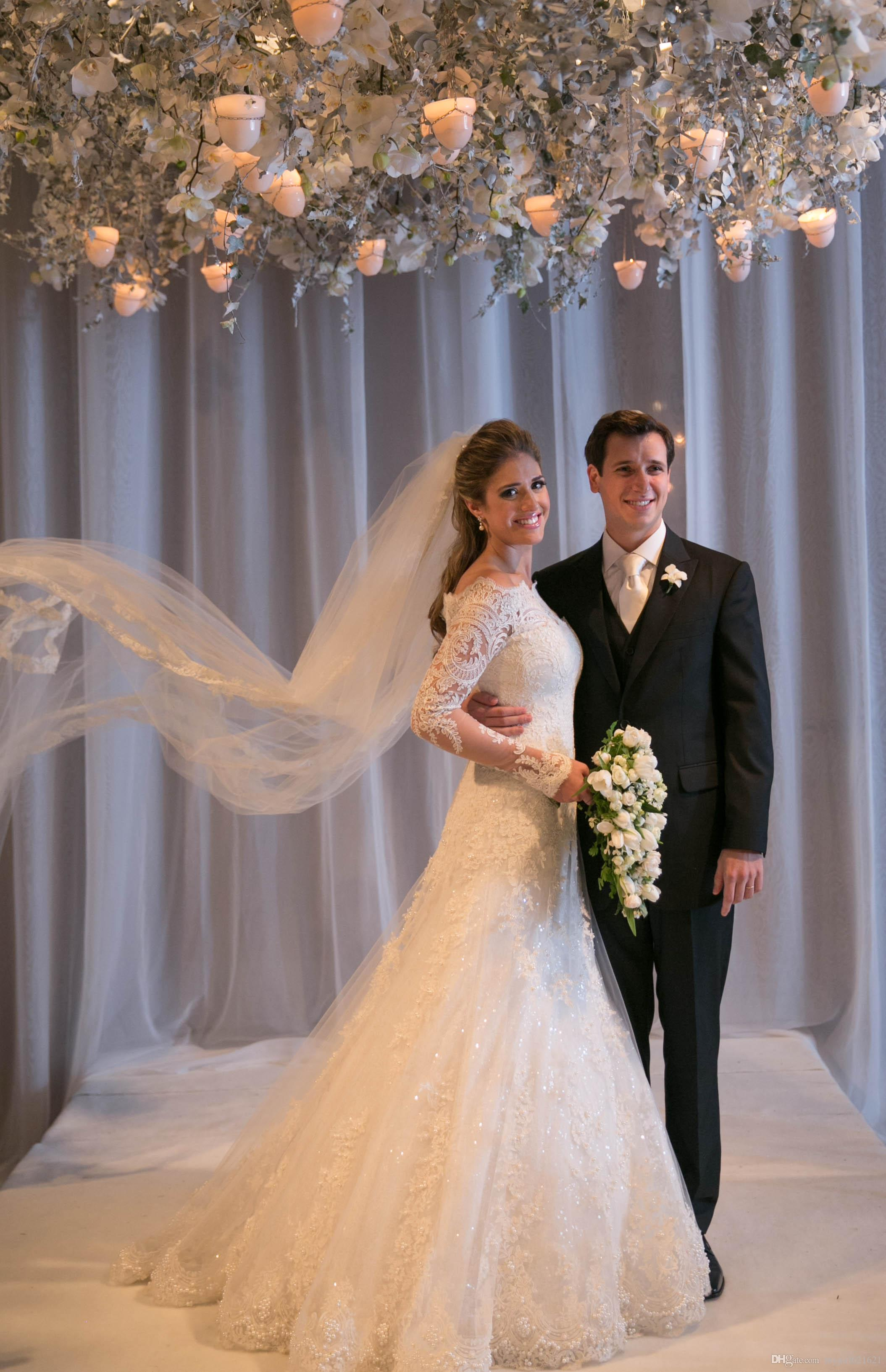Mermaid Wedding Dresses With Long Veil