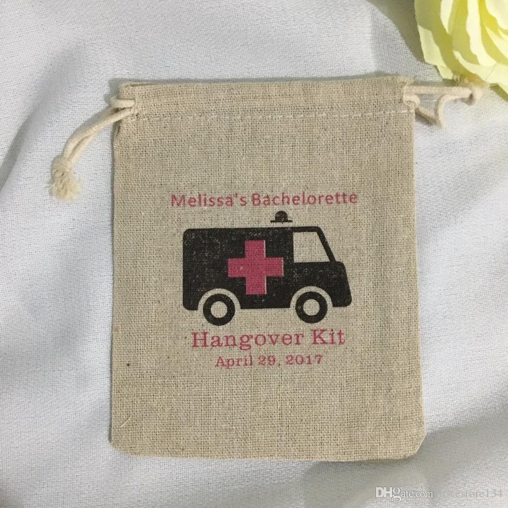 personalized ambulance bachelorette hangover bridal shower recovery survival kit wedding favor gift bags party candy pouches wedding favour gifts wedding