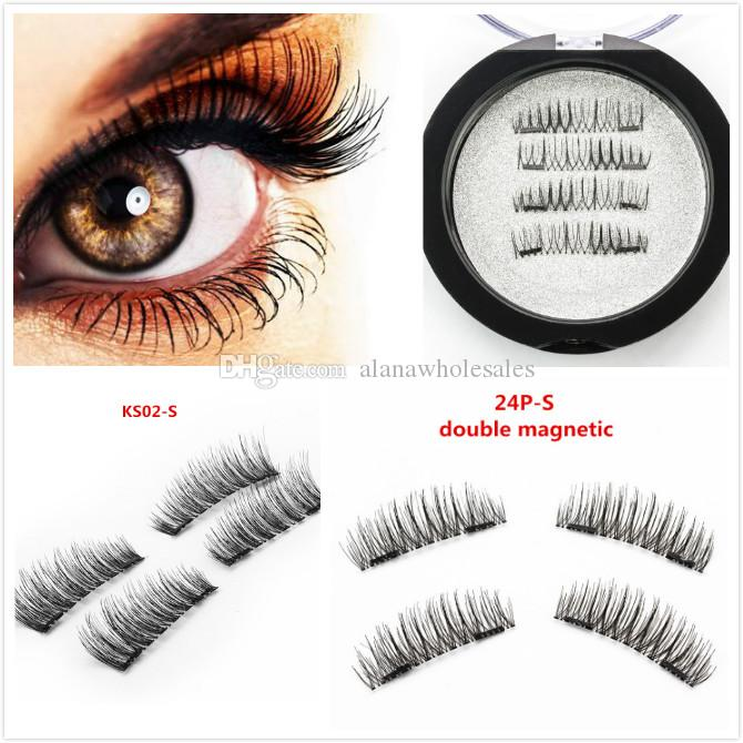 7 Models Magnetic Eyelashes 3D magic reusable magnetic eyelashes hand made silk single magnet false eyelashes
