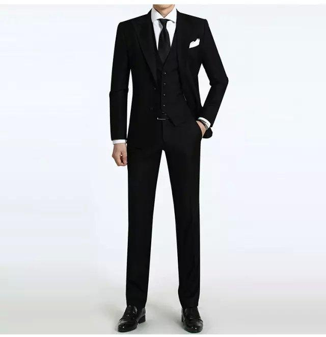 The latest manual tailored suit men business suits the han edition cultivate one's morality work three-piece suit gentleman gun collar dress