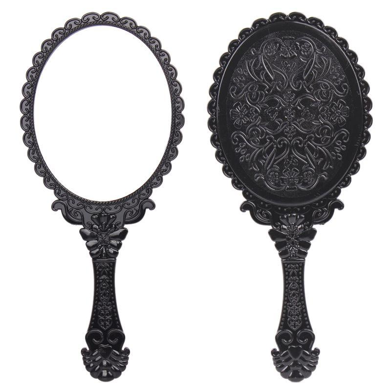 Big Size Vintage Rose Cosmetic Mirror Plastic Makeup