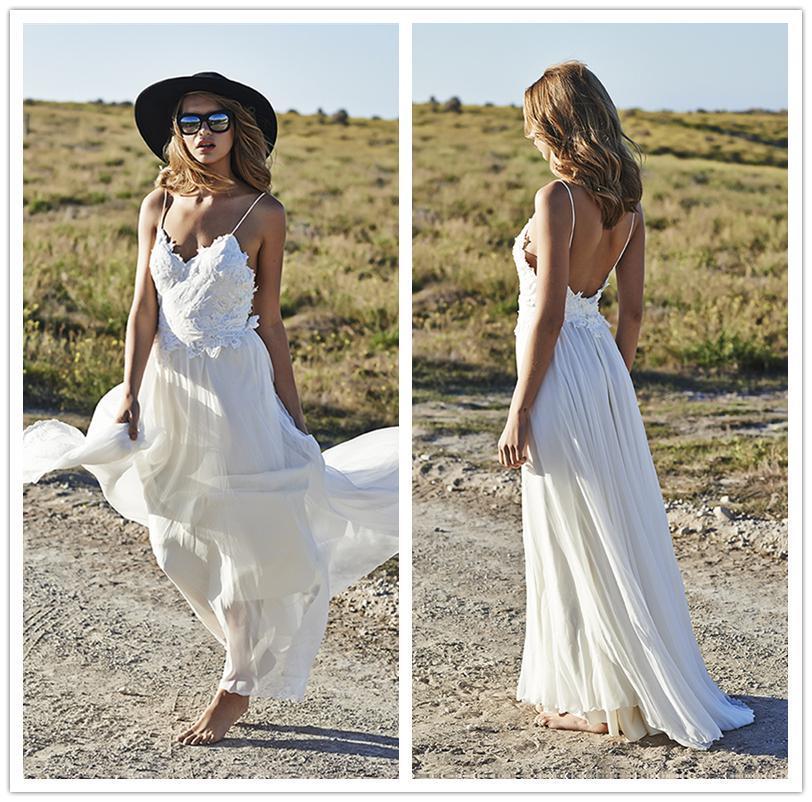 Discount 2017 fashion beach backless wedding dresses a for Backless wedding dresses online