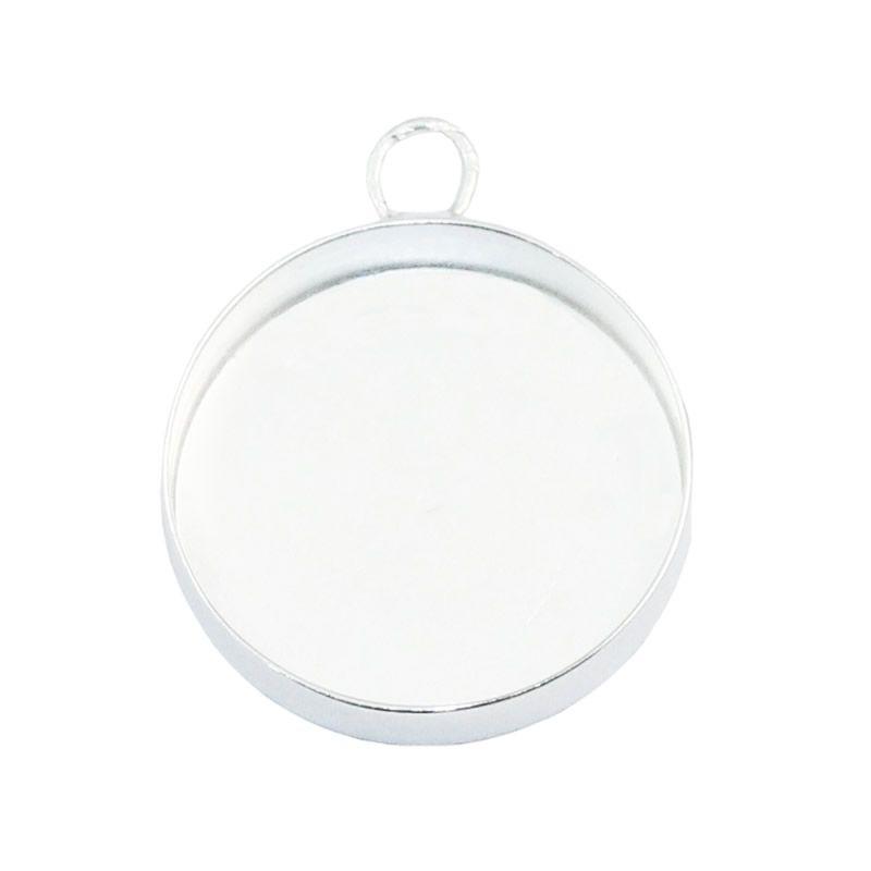 Beadsnice Gümüş Kolye Tepsi Kolye Ayarı Cameo Montaj Gümüş Yuvarlak Tepsi Cabochon Bankası Toptan Takı Malzemeleri KIMLIĞI 33546