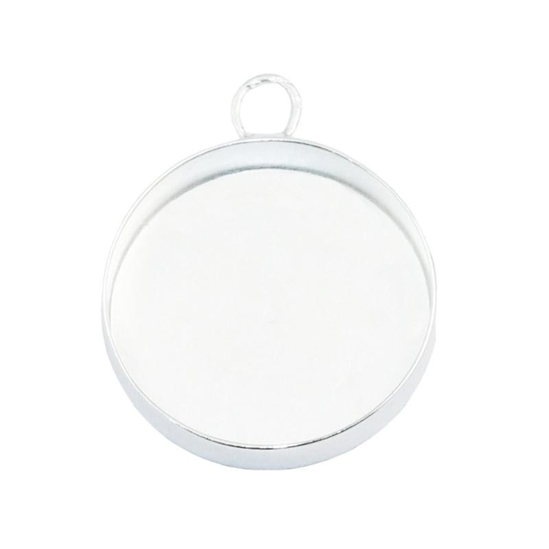 Beadsnice стерлингового серебра подвеска лоток подвеска настройка камея монтаж серебро круглый лоток кабошон база оптовые поставки ювелирных изделий ID 33546