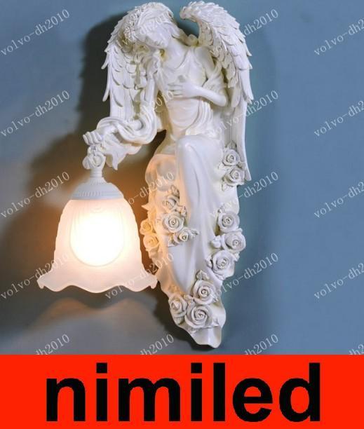Résine Applique Chevet Nimi529 Style Salon Hôtel Lumières Éclairage Creative Balcon De Allée Européen Américain Chambre Ange kn0OwP