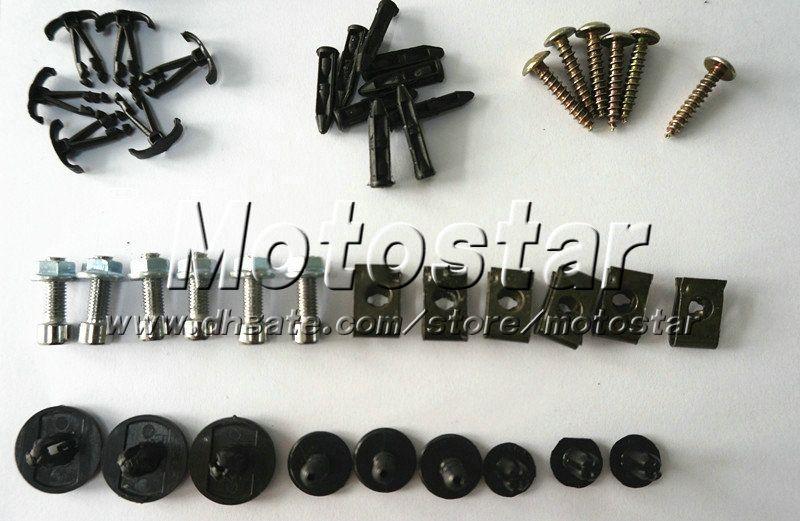 Motorcycle Fairing screws bolt kits for KAWASAKI ninja 2008 2009 2012 zx250rR 08-12 ninja 250r black aftermarket fairings bolts screw parts