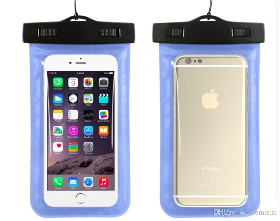 Wasserdichte Tasche PVC-Schutzhülle Universal-Handytasche mit Kompass Taschen für Tauchen Schwimmen für Smartphone bis zu 5,8 Zoll