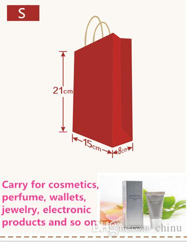 21*15*8cm Dark Blue Paper Shopping Bag With Handle,130gsm Kraft Paper Bag, Can OEM Customized Printing Logo