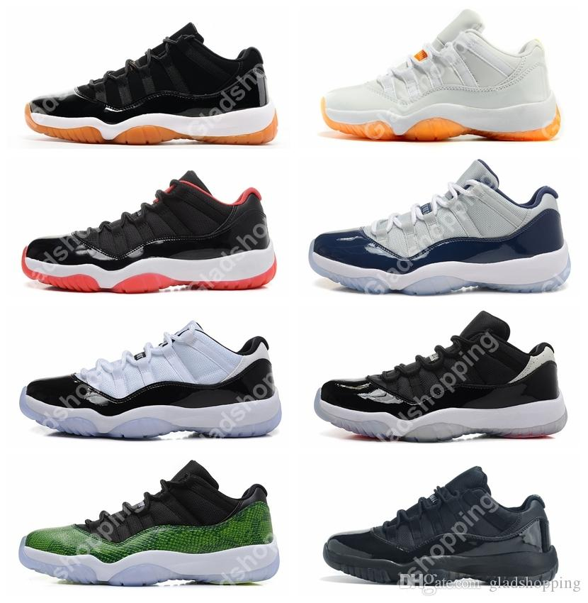 177c892b387d13 New 2018 11 Low Basketball Shoes Concord Bred Georgetown Space Jam Citrus  GS Basketball Sneakers Women Men Low Cut Athletics Boots XI Athletic Shoes  Shoes ...