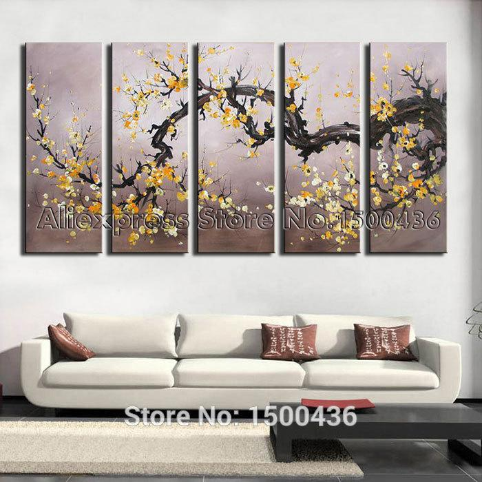 Best Canvas Tree Oil Painting Yellow Flower Set Hand  : 5 piece canvas tree oil painting yellow flower from www.dhgate.com size 700 x 700 jpeg 85kB