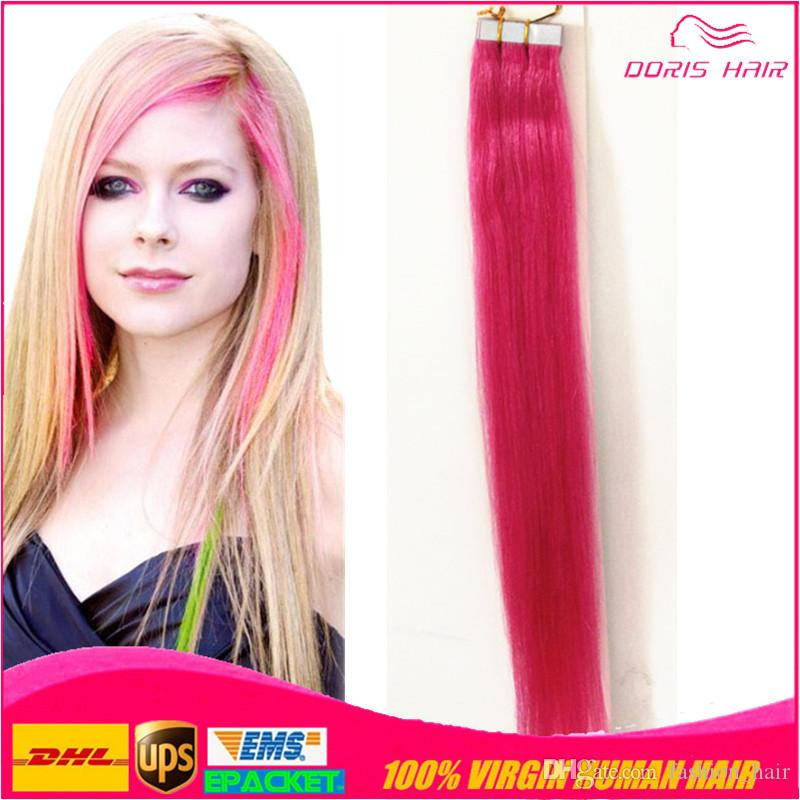 New fashion hot pink tape hair extensions strong blue tape new fashion hot pink tape hair extensions strong blue tape adhesive package for remy tape in hair extensions hair extension glue glue in weft hair pmusecretfo Choice Image