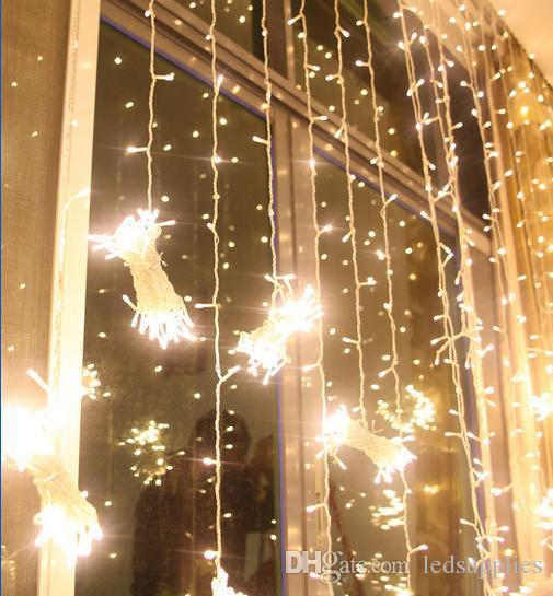 10 * 3 m 1000 LEDs ışıkları şerit LED Dize lambaları perde Noel ev bahçe festivali sıcak beyaz su geçirmez ışıkları