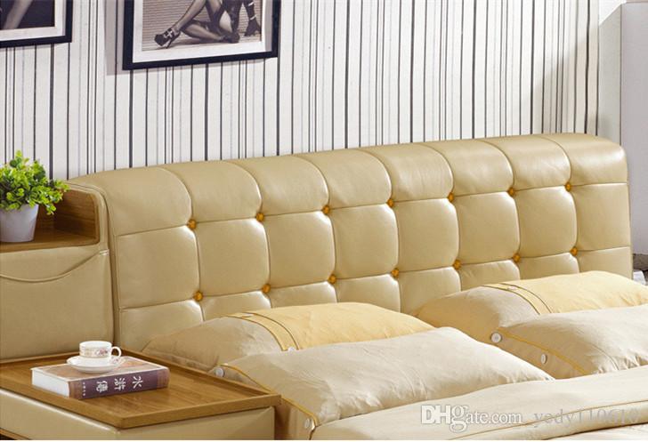 الحرة الشحن اصلية جلد BED أسلوب أنيق الأصفر شخص مزدوج FASION حديث جيد الحجم 180 * 200CM A29D