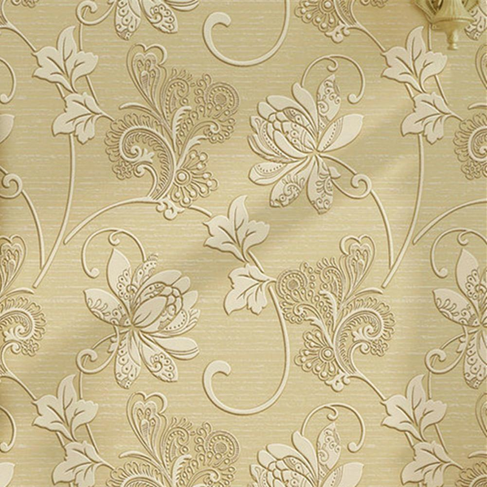Luxury Home Decorative Vintage Flower Print Wallpaper Non Woven ...