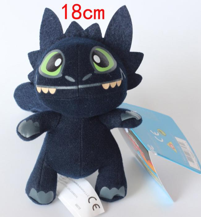 Cute How To Train Your Dragon 2 Night Fury Toothless Plush Toy 18cm Soft Dolls Kids Birthday Party Gifts People Finger Puppets Large From