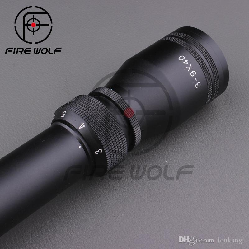 Direct Selling Nowy obiektyw 3-9x40 MIL DOT AIR Karabin Pistolet Polowanie Scope Teleskopowe Widok Riflescope + 11 / 21mm Mounts