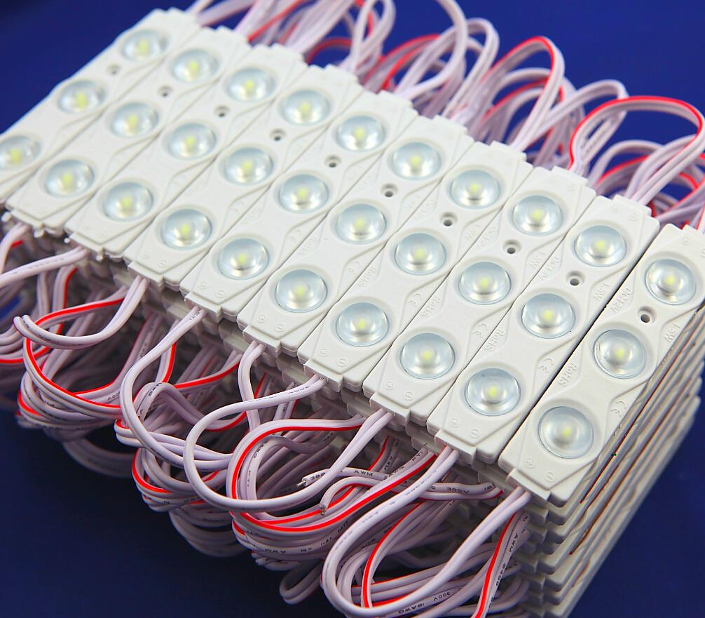 ¡Mejor precio! 2835 Módulo LED a prueba de agua DC12V Super brillante 3leds / piece IP65-Waterproof 1.5W para publicidad envío gratis