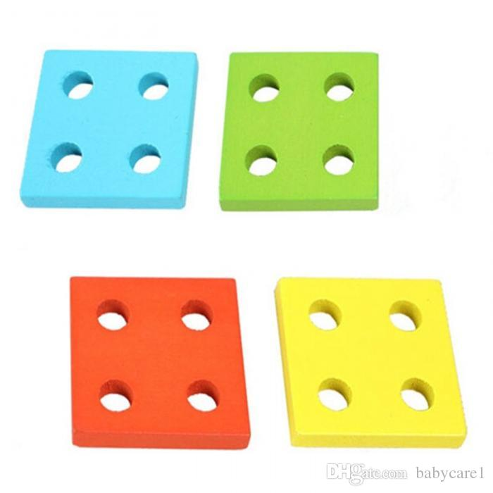 Pädagogische Holz Geometrische Sortierbrett Blöcke Montessori Kinder Baby Lernspielzeug Bausteine Hohe Qualität