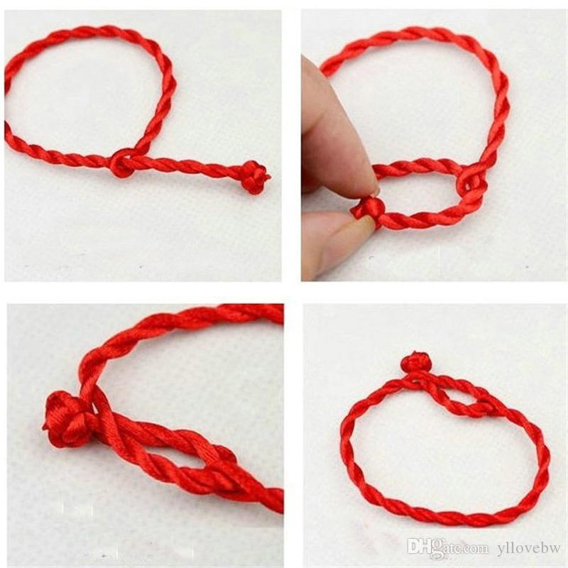 Red Thread Amulet Jewelry for Female Fashion Chinese Red Luck Rope Cord String Bracelet Bangle Friendship 20cm