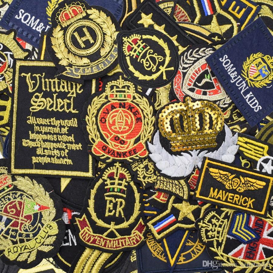 Distintivi Badge abbigliamento Iron on Transfer Applique Patch Cool jeans da giacca Accessori da cucire fai da te Distintivo ricamo Ramdon
