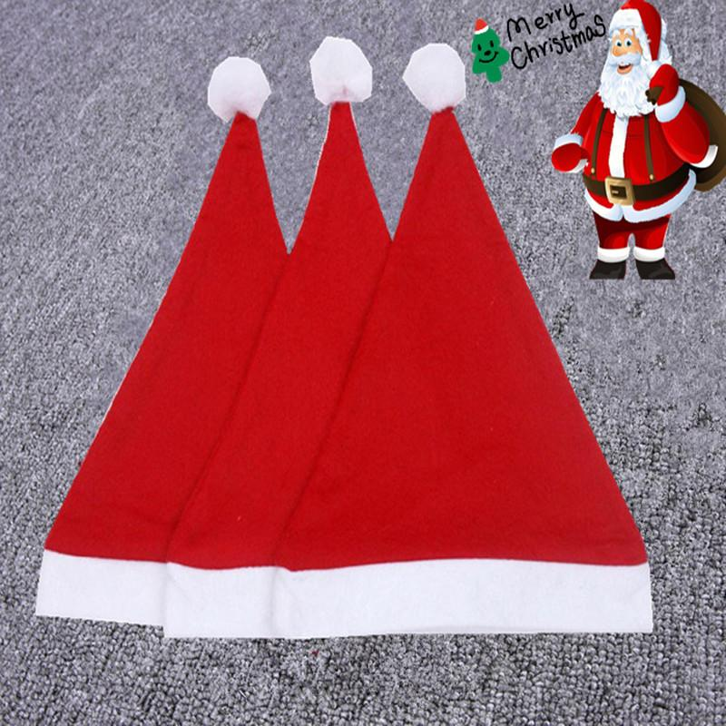 Christmas Decoration Hats Santa S Hat High Grade Christmas Hat Santa Claus  Hat Cute Adults Christmas Cosplay Hats DHL FREE Party Top Hats Partyhat  From ... 942d9ae1932c