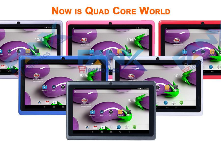 7 inch A33 Quad Core Q88 Tablet Dual Core WIFI MID Dual Camera Android 4.4 1MB 16GB Surfing Cheapest Popular PAD