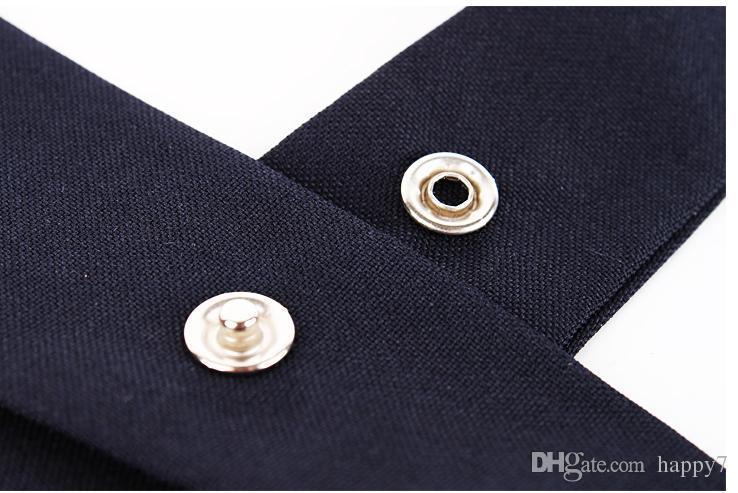 2017 DHL Moda Mujeres Hombres Ajustable Cruz Pajarita Color Sólido de Poliéster Del Banquete de Boda Estudiante Tie Girls Tie la moda femmes hommes réglable