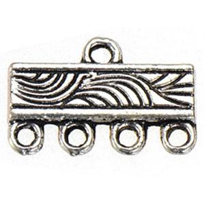 jewelry findings diy connectors for multilayer bracelets 1 and 4 holes earrings crafts charms vintage silver metal fashion 10*16mm