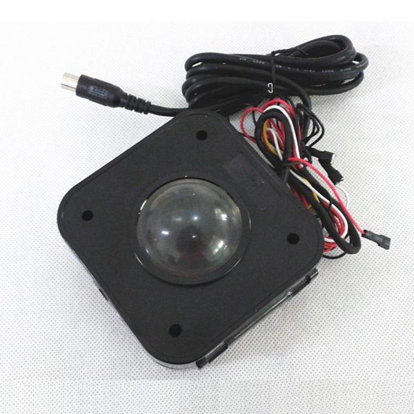 조명 된 4.5cm 라운드 아케이드 게임 MAME에 대 한 LED 트랙볼 마우스 Jamma PCB 커넥터 조명