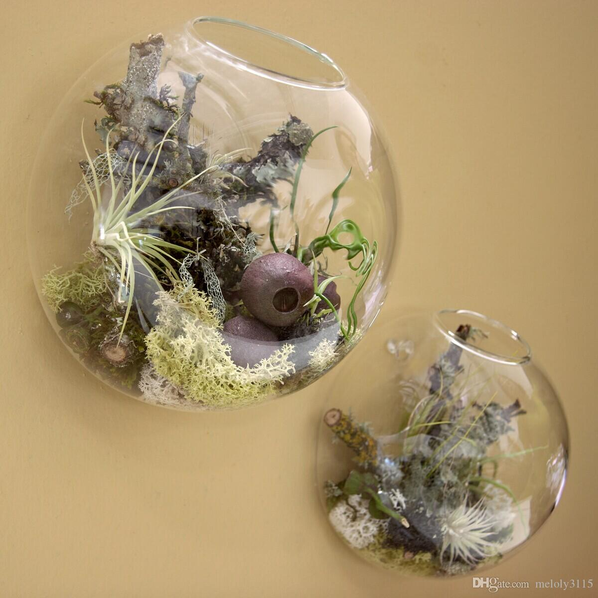 Wall Bubble Terrarium,Wall Glass Vase,Floating Wall Planters For ...