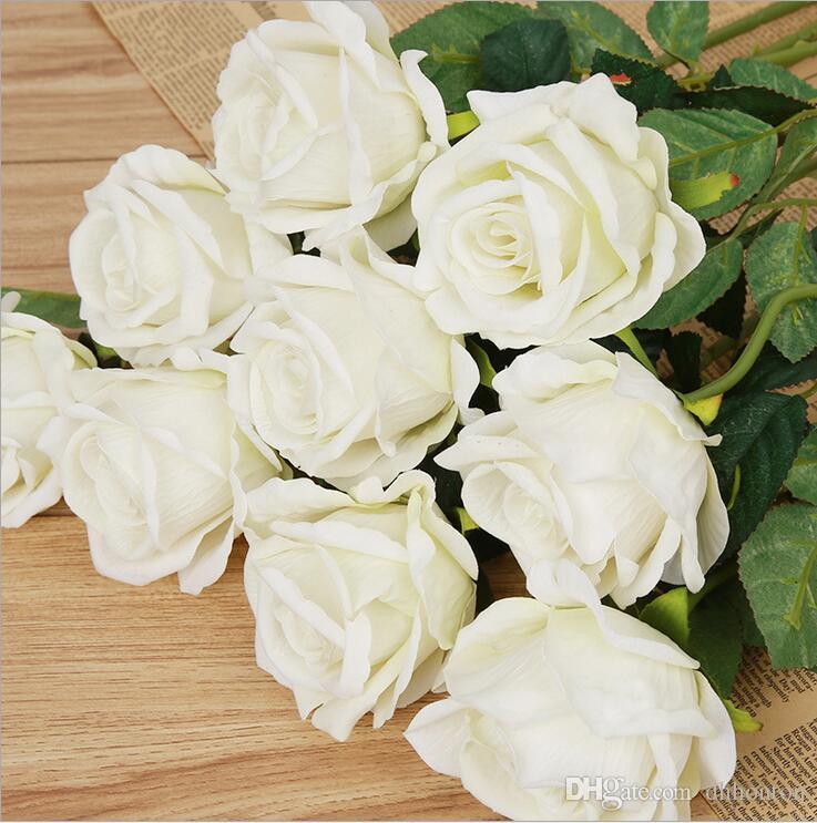 Düğün Için gül Yapay Çiçekler Ipek kumaş Ev Tasarım çiçek Buket Dekorasyon Ürünleri Tedarik ücretsiz kargo HR009